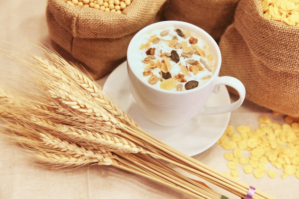 비오틴 효능 - 귀리와 곡물 건강한 식사