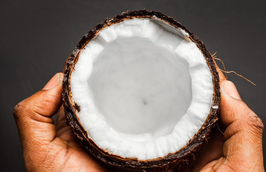 코코넛 오일 피부 - 코코넛 내부