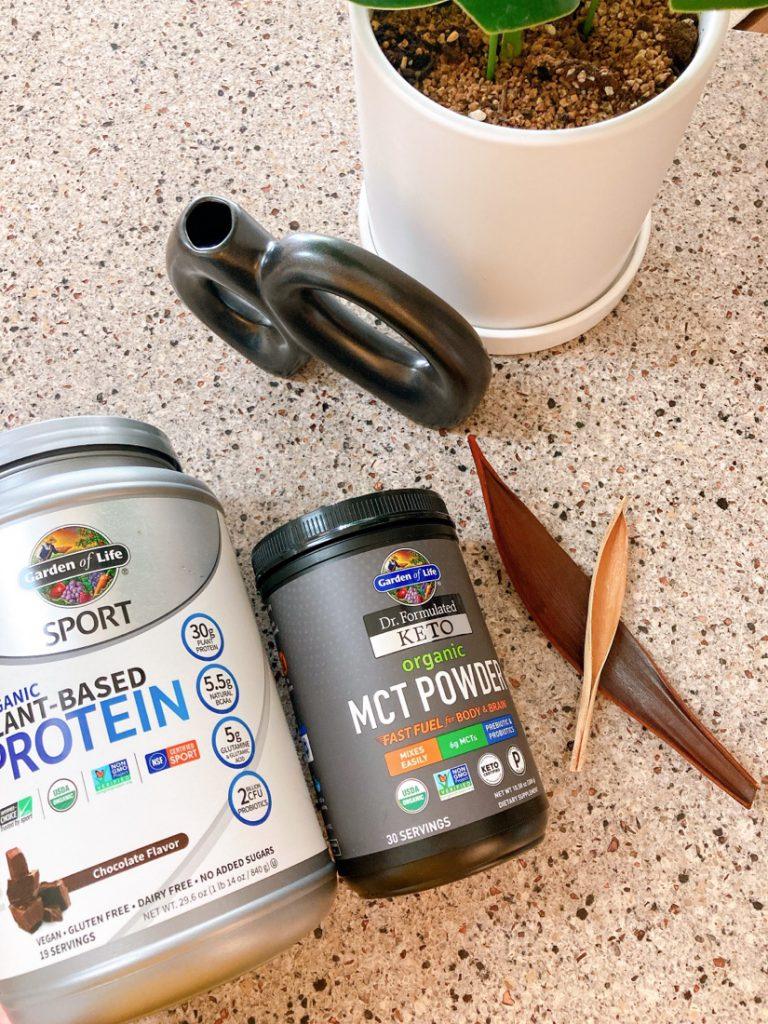 가든오브라이프 단백질 보충제와 케토 MCT파우더
