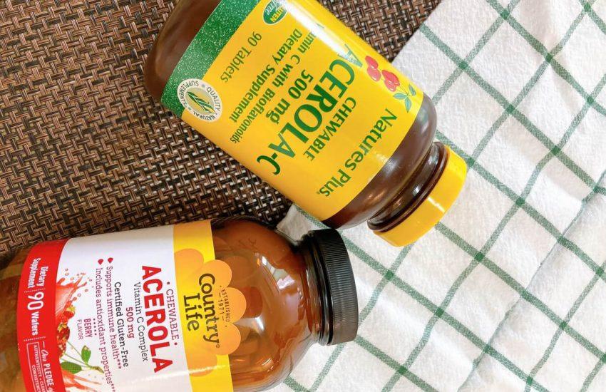아세롤라 열매를 이용한 비타민C 보충제